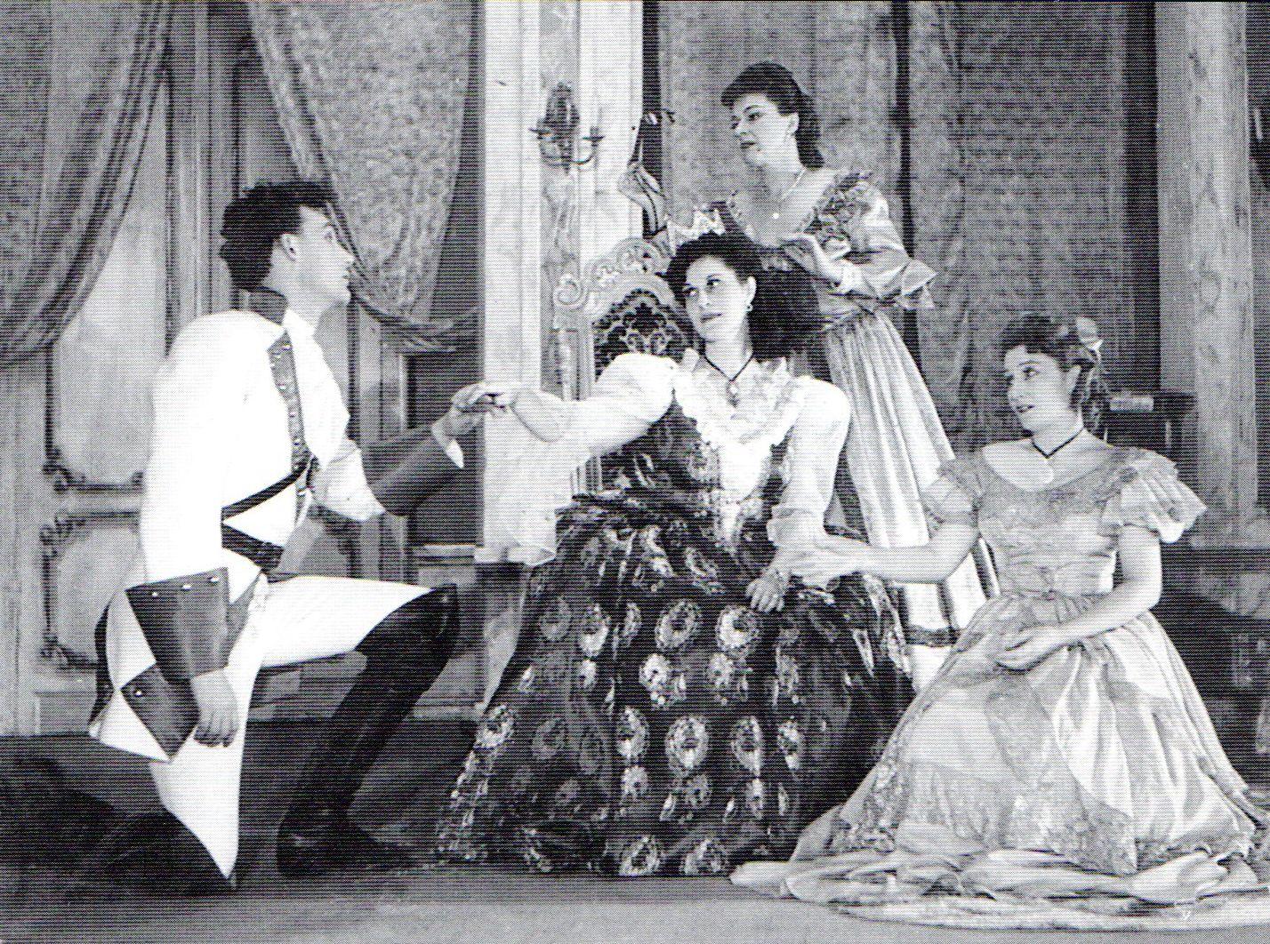 Gelley Kornél, Móricz Lili, Papp Ibolya és Herendi Mária