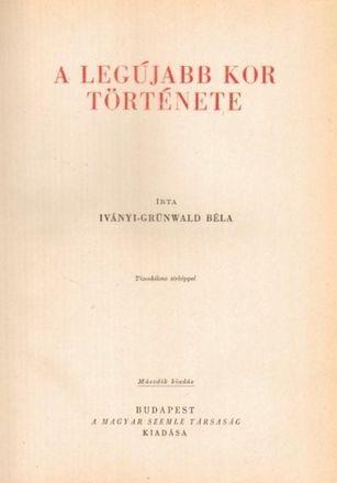 ifj. Iványi-Grünwald Béla műve